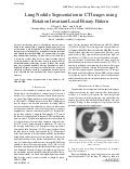 Lung Nodule Segmentation in CT Images using Rotation Invariant Local Binary Pattern