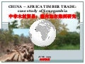 China-Africa timber trade: case study of Senegambia