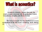 Acoustic, Sound and Noise Control