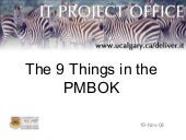 Nine Things-in-the-PMBoK