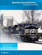 Norfolk Southern 4Q 2008 financial ...