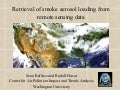 2004-06-23 Retrieval of smoke aerosol loading from remote sensing data