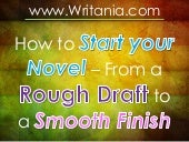 How to Start your Novel – From a Ro...