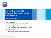 Chevron Q4 2008 earnings release