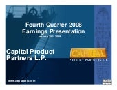 Capital Product Partners Fourth Qua...