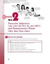 Possessive pronouns and possessive ...