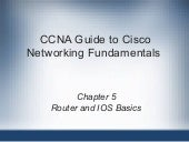 CCNA Router and IOS Basics