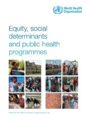 Equity, social determinants and pub...