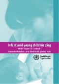 World Health Organization's Guide to Infant and Child Nutrition