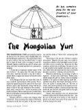 The Mongolian Yurt