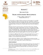 TRADE AND ECONOMIC DEVELOPMENT
