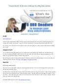 9 Google Reader Alternatives to Manage Your Blog Subscriptions