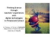 Thinking Science with Digital Technologies