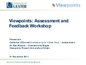 Assessment and Feedback Workshop