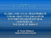 GLOBAL AND LOCAL REQUIREMENTS FOR A...