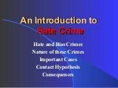 An Introduction To Hate Crime