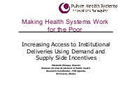 Increasing Access to Institutional ...