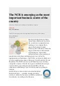 The NCR is emerging as the most important business centre of the country