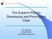 The Expert's Role In Developing And...