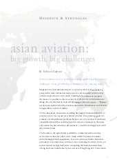 Asian Aviation: Big Growth, Big Cha...