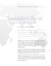 Outsiders' Fly In To Ease Airline T...