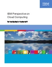 Ibm Perspective On Cloud Computing