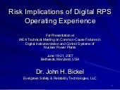 Jh Bickel   Risk Implications Of Di...