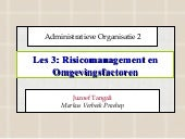 Les 3 Risicomanagement En Omgevings...