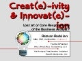 Creativity & Innovation in Business Analysis