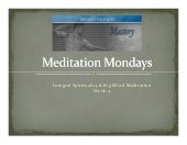 Microsoft Power Point   Meditation ...