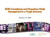 Rcra Compliance And Hazardous Waste...