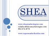 Shea Marketing Capabilities Present...