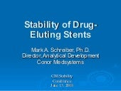 Stability Of Drug Eluting Stents