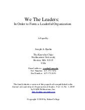 We The Leaders For Linked In
