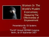Women In Muslim Economies