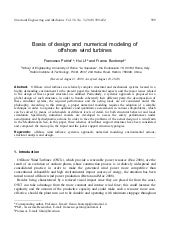 Basis of design and numerical model...