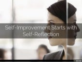 Why Self Improvement Starts With Self Reflection