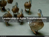Leadership in Agile Transformations