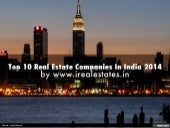 Top 10 Real Estate Companies In India 2014