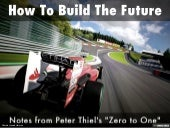 How To Build The Future - Notes from Peter Thiel's Zero to One