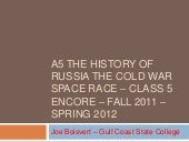 A 5 The Space Race Cold War class 5...