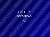 Safety Inspections By J Mc Cann