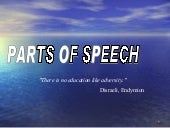 A parts-of-speech