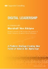 A Platform Strategy: Creating New Forms of Value in the Digital Age