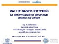 A. Rossi   Value Based Pricing   17.09.2008