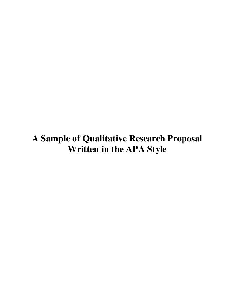 Qualitative research proposal examples