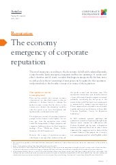 The economy emergency of corporate ...
