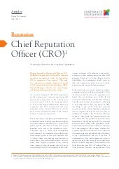 The Chief Reputation Officer (CRO)