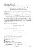 Periodic Solutions for Non-Linear Systems of Integral Equations