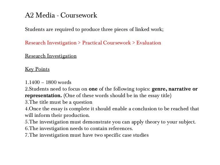 I NEED HELPPPP!! media coursework?